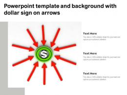 Powerpoint Template And Background With Dollar Sign On Arrows