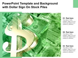 Powerpoint Template And Background With Dollar Sign On Stock Piles