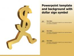 Powerpoint Template And Background With Dollar Sign Symbol