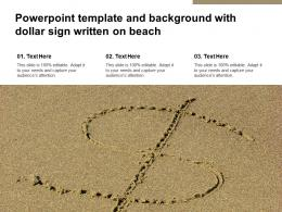 Powerpoint Template And Background With Dollar Sign Written On Beach