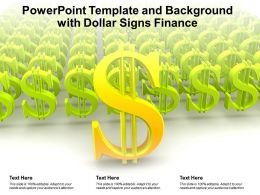 Powerpoint Template And Background With Dollar Signs Finance