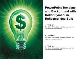 Powerpoint Template And Background With Dollar Symbol In Reflected Idea Bulb