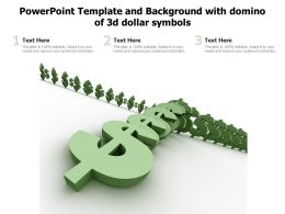 Powerpoint Template And Background With Domino Of 3d Dollar Symbols