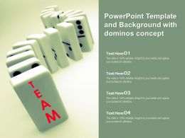 Powerpoint Template And Background With Dominos Concept