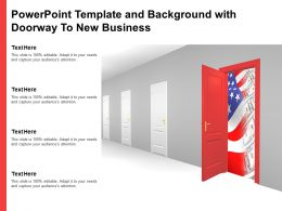 Powerpoint Template And Background With Doorway To New Business