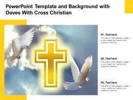 Powerpoint Template And Background With Doves With Cross Christian