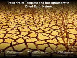 Powerpoint Template And Background With Dried Earth Nature