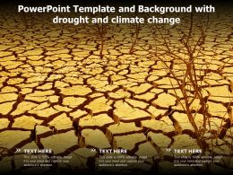 Powerpoint Template And Background With Drought And Climate Change