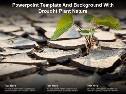 Powerpoint Template And Background With Drought Plant Nature