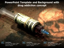 Powerpoint Template And Background With Drug Addiction Concept