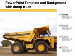 Powerpoint Template And Background With Dump Truck
