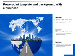 Powerpoint Template And Background With E Business