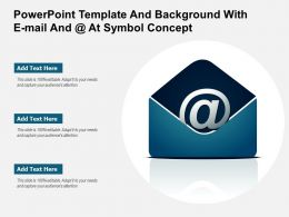 Powerpoint Template And Background With E Mail And At Symbol Concept