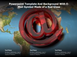 Powerpoint Template And Background With E Mail Symbol Made Of A Red Glass