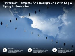 Powerpoint Template And Background With Eagle Flying In Formation