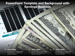 Powerpoint Template And Background With Earnings Business