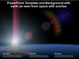 Powerpoint Template And Background With Earth As Seen From Space With Sunrise Science