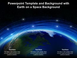 Powerpoint Template And Background With Earth On A Space Background