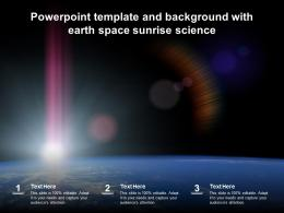 Powerpoint Template And Background With Earth Space Sunrise Science