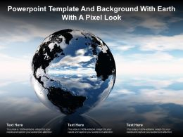 Powerpoint Template And Background With Earth With A Pixel Look