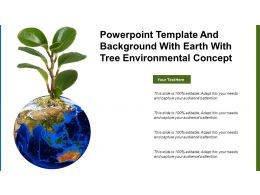 Powerpoint Template And Background With Earth With Tree Environmental Concept