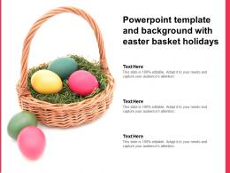 Powerpoint Template And Background With Easter Basket Holidays