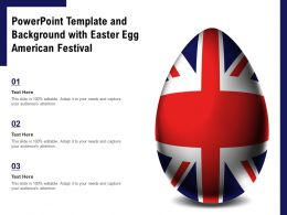 Powerpoint Template And Background With Easter Egg American Festival