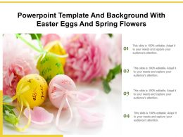 Powerpoint Template And Background With Easter Eggs And Spring Flowers