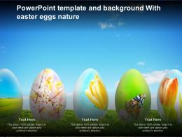 Powerpoint Template And Background With Easter Eggs Nature