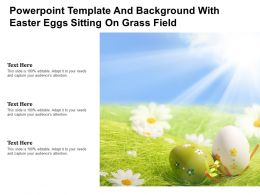 Powerpoint Template And Background With Easter Eggs Sitting On Grass Field