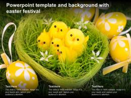 Powerpoint Template And Background With Easter Festival