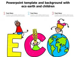 Powerpoint Template And Background With Eco Earth And Children