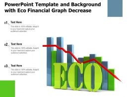 Powerpoint Template And Background With Eco Financial Graph Decrease