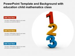 Powerpoint Template And Background With Education Child Mathematics Class