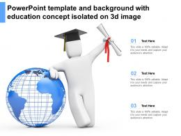 Powerpoint Template And Background With Education Concept Isolated On 3d Image