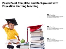 Powerpoint Template And Background With Education Learning Teaching