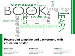Powerpoint Template And Background With Education Poster
