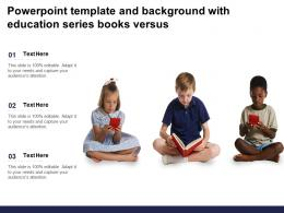 Powerpoint Template And Background With Education Series Books Versus