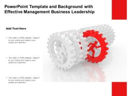 Powerpoint Template And Background With Effective Management Business Leadership