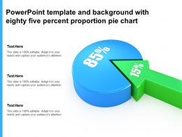 Powerpoint Template And Background With Eighty Five Percent Proportion Pie Chart