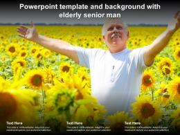Powerpoint Template And Background With Elderly Senior Man
