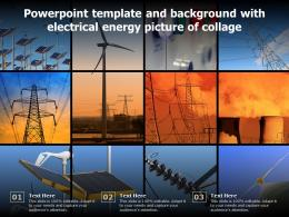 Powerpoint Template And Background With Electrical Energy Picture Of Collage