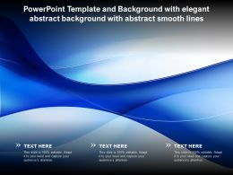 Powerpoint Template And Background With Elegant Abstract Background With Abstract Smooth Lines
