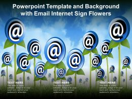 Powerpoint Template And Background With Email Internet Sign Flowers