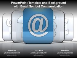 Powerpoint Template And Background With Email Symbol Communication