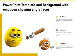 Powerpoint Template And Background With Emoticon Showing Angry Faces