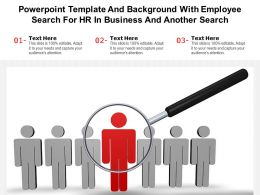 Powerpoint Template And Background With Employee Search For HR In Business And Another Search