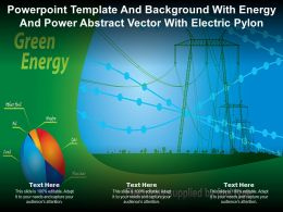 Powerpoint Template And Background With Energy And Power Abstract Vector With Electric Pylon