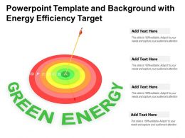 Powerpoint Template And Background With Energy Efficiency Target