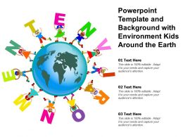 Powerpoint Template And Background With Environment Kids Around The Earth